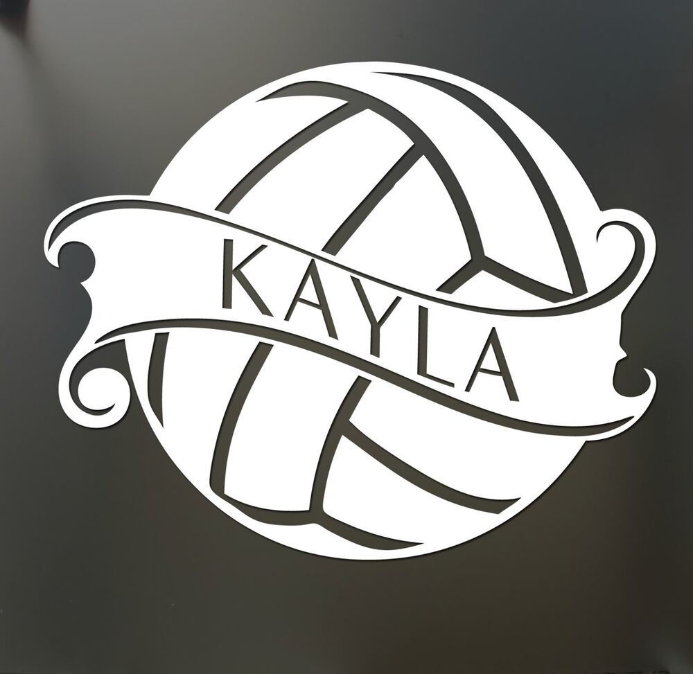 Volleyball Sticker Custom Name Decal Car Window Sticker