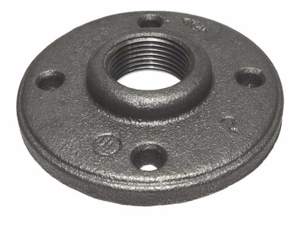 1 2 Quot Black Malleable Iron Floor Flange Fitting Pipe Npt Ebay