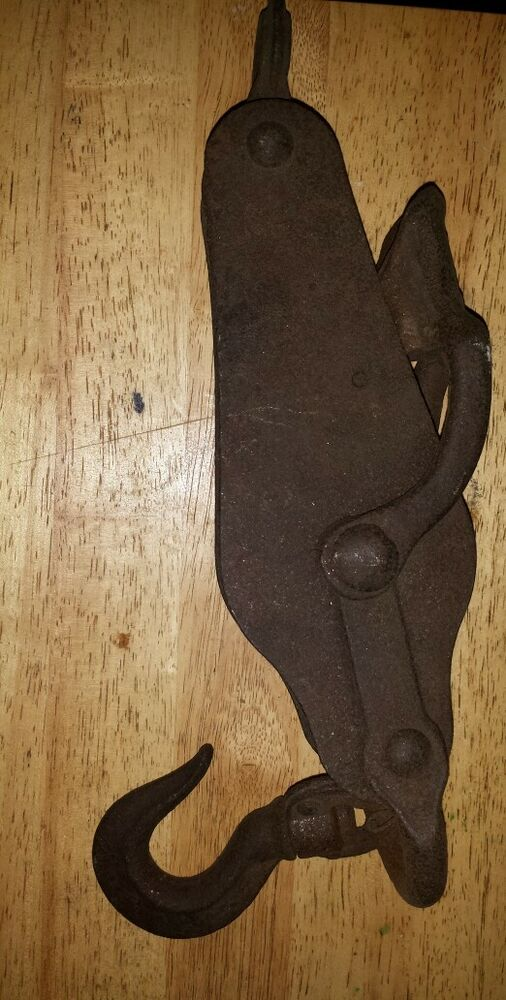 Pulleys Antique Looking : Antique pulley assembly ebay
