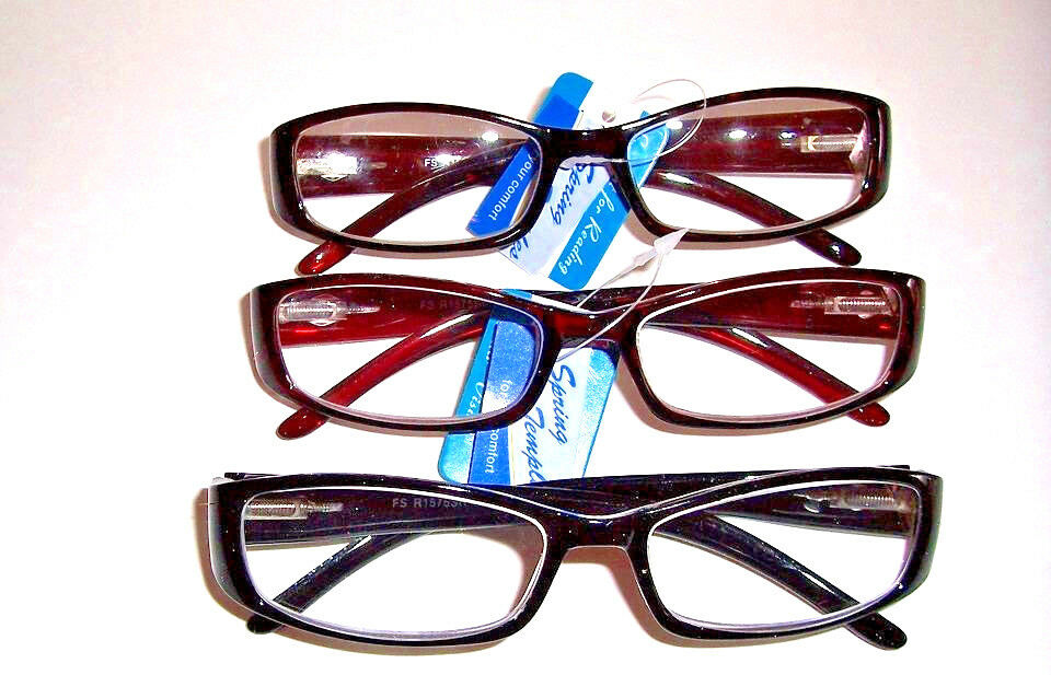 6 00 clear reading glasses hinge quot strength