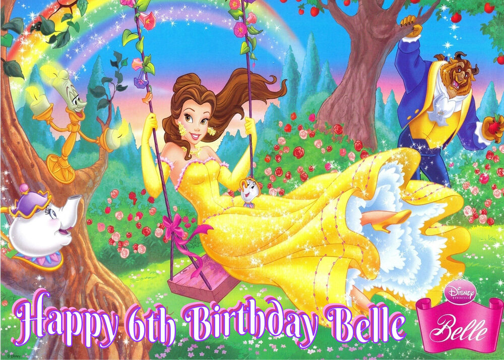 Disney Princess Belle Beauty And The Beast Happy Birthday