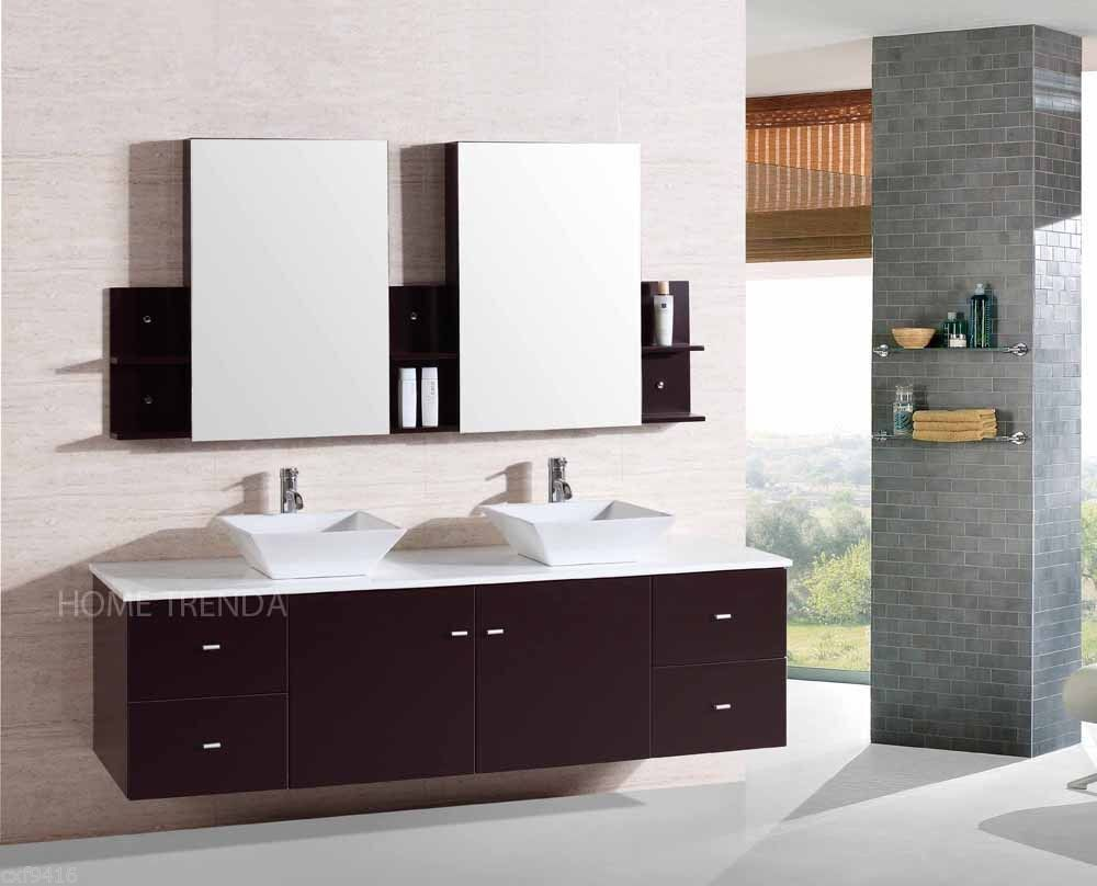 Wall mount floating 72 inch double sink bathroom vanity Floating bathroom vanity
