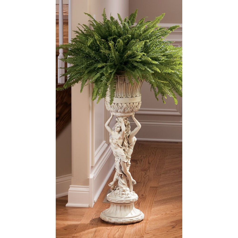 Pedestal Plant Stands ~ Quot neoclassical french flair dual maidens home garden
