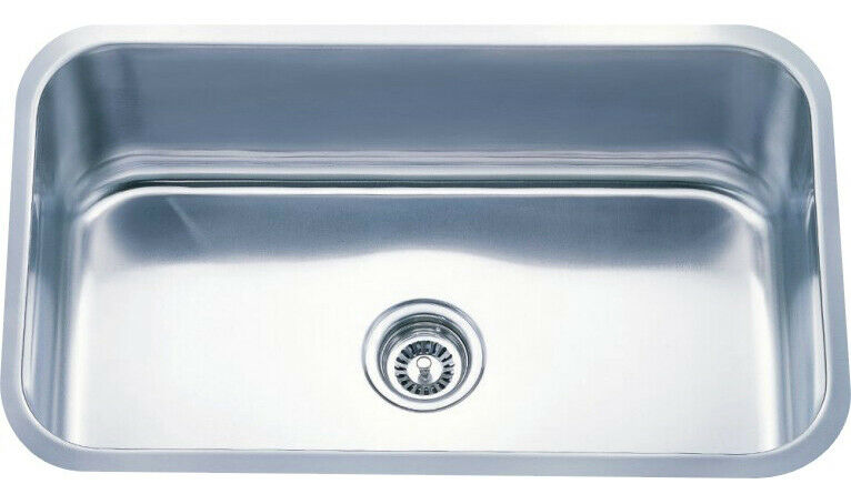6005-3018 Undermount Square Stainless Steel Single Bowl ...