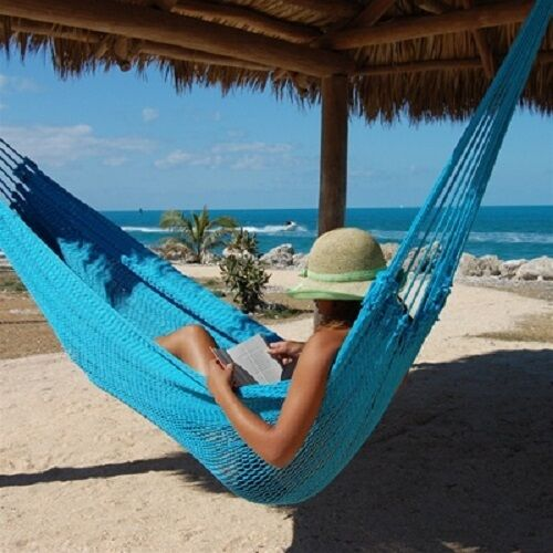 Portable Mayan Rope Mexican Hammock 2 3 Person Family