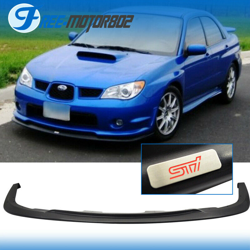 fit 06 07 subaru impreza wrx sti s204 front bumper lip. Black Bedroom Furniture Sets. Home Design Ideas