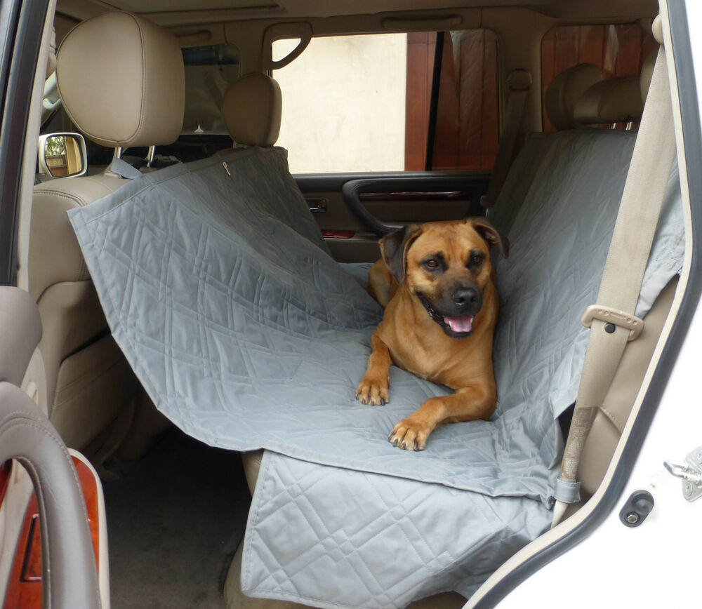 pet dog cat car seat universal hammock cover fit car van truck suv 60 l grey ebay. Black Bedroom Furniture Sets. Home Design Ideas