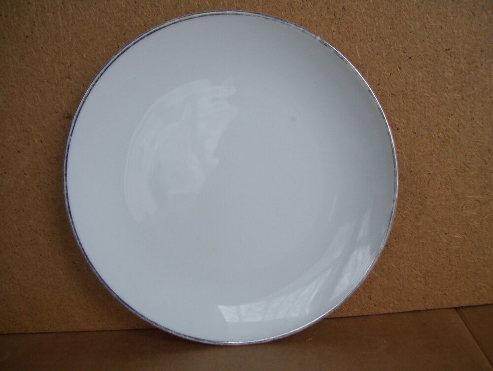 "Rare Vintage Noritake China 6 1/4"" Silver Rim Plate Made In Japan  eBay"