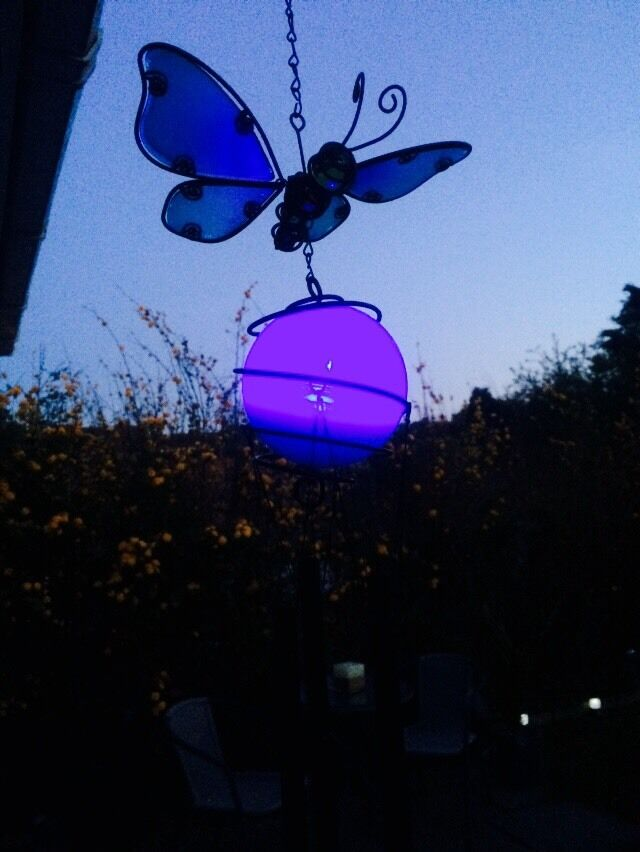 Solar Powered Colour Changing Butterfly Windchime Light