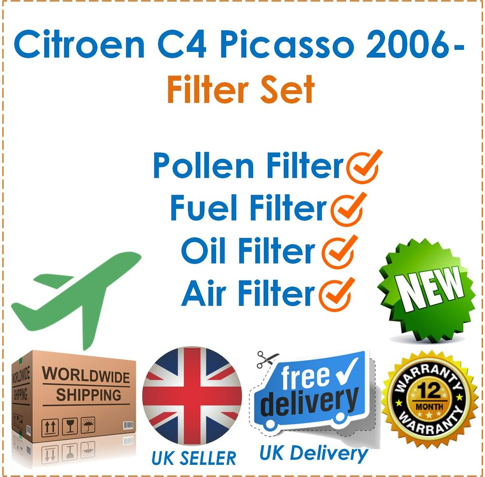 fits citroen c4 picasso 1 6hdi 2006 pollen fuel oil air. Black Bedroom Furniture Sets. Home Design Ideas