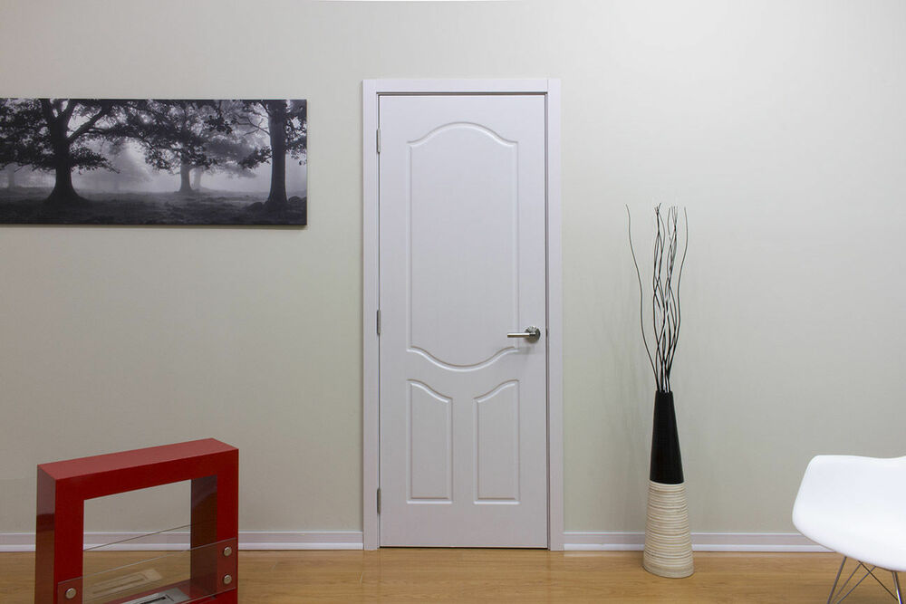 32 x 80 modern interior wood door with frame included no pre hung white ash ebay. Black Bedroom Furniture Sets. Home Design Ideas
