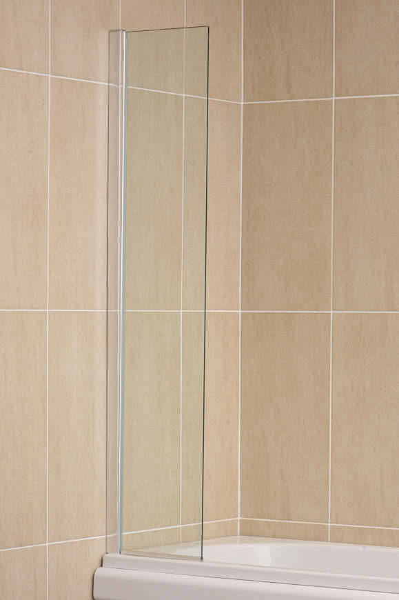 Fixed Panel Over Bath Shower Screen Water Deflector 500mm