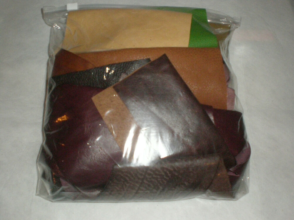 Leather craft scrap off cuts reminants pieces mixed for Leather sheets for crafting