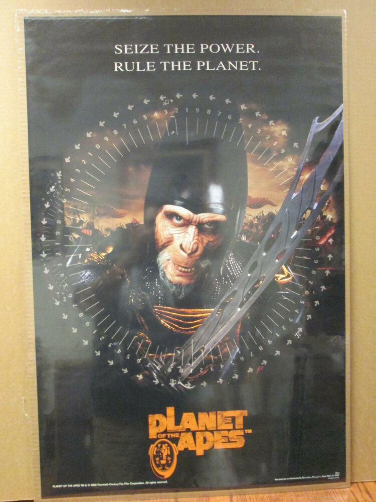 vintage 2000 Planet of the Apes original movie poster 6620 ...