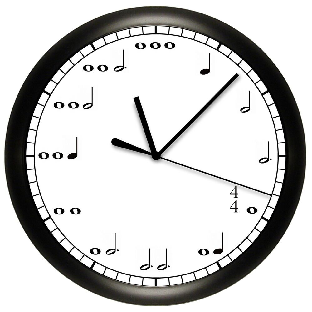 music notes wall clock personalized gift decor musician