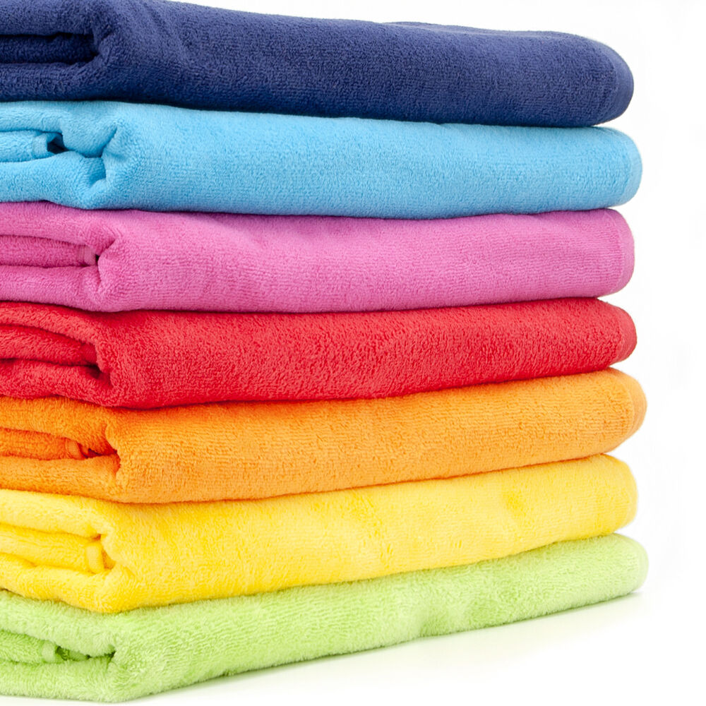 large 100 cotton beach towel bath shett holiday towels 400gsm plain pattern ebay On beach towel large
