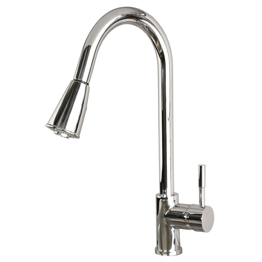Contemporary 16 pull down spray kitchen sink faucet - Kitchen sink sprayers ...