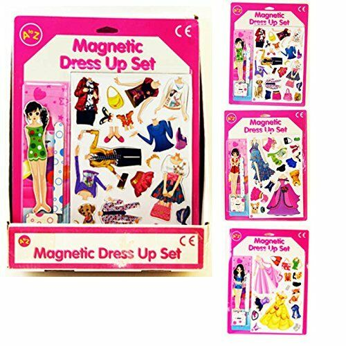 new magnetic dress dressing up set with doll clothes
