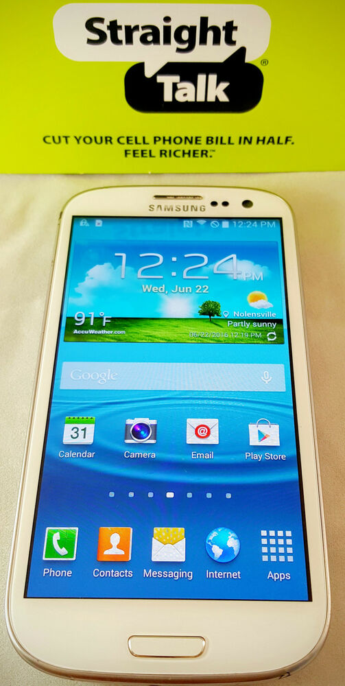 Unlocked Straight Talk Samsung Galaxy S3 White 16gb 4g