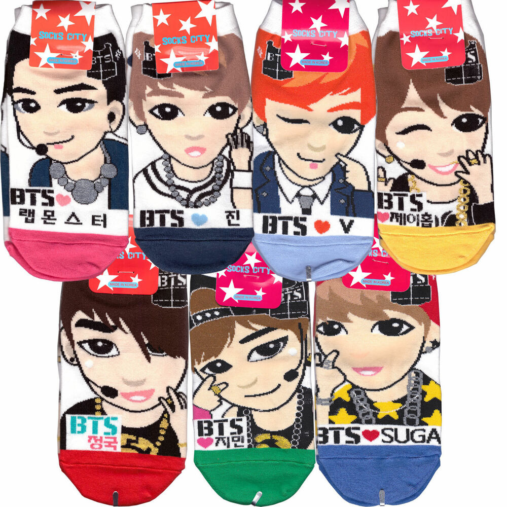 BTS low ankle socks Bangtan Kpop socks Rmonster,Jin,V ...