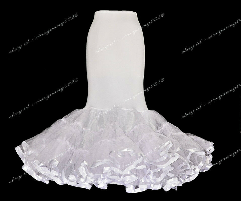 White trumpet mermaid style slip petticoat for mermaid for Mermaid slip for wedding dress