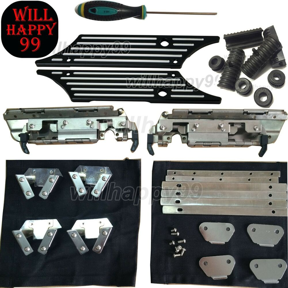 Saddlebag Hard Bag Hardware Kit Black Billet Latch Cover