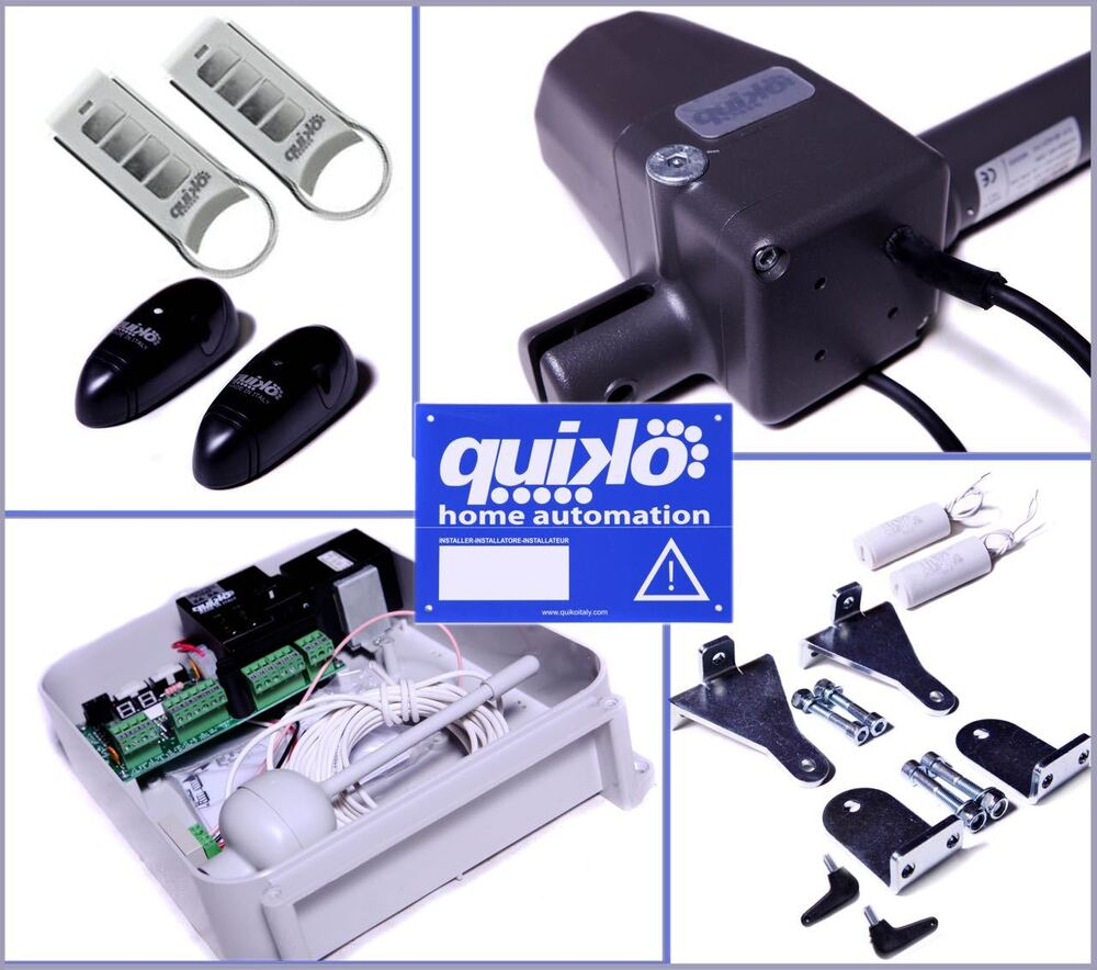 Quiko Neo Automatic Remote Electric Gate Opener Kit Dual