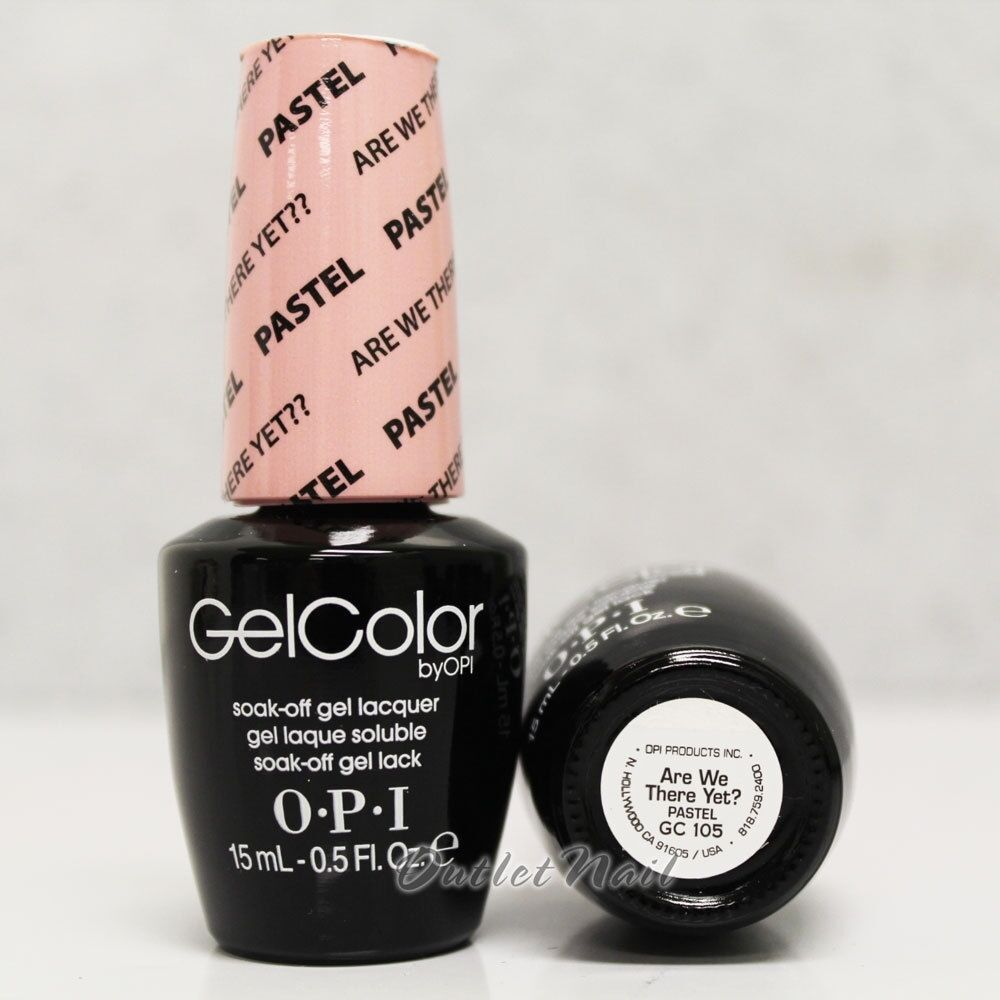 Opi Gelcolor Pastel Gc 105 Are We There Yet 15ml 0 5oz Uv Led Gel Nail Polish Ebay
