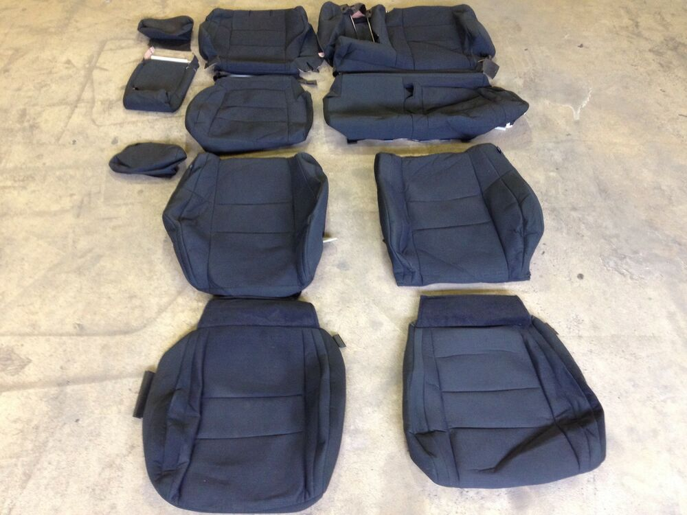 factory oem cloth seat cover covers 2011 2012 2013 2014 2015 jeep grand cherokee ebay. Black Bedroom Furniture Sets. Home Design Ideas