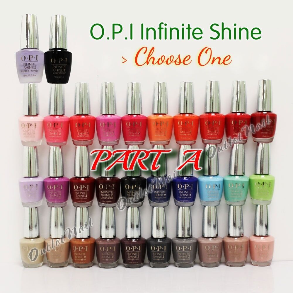 Top page gt gt infinite - Part A Opi Infinite Shine 10 Day Nail Polish Lacquer Primer Base Gloss Top Coat Ebay