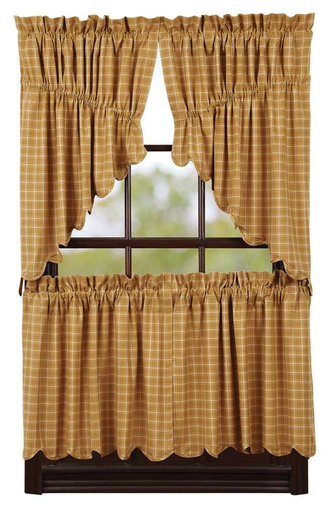 "... Mustard Gold Country Tier Set by VHC Brands - Lined - 24"" x 36"" 
