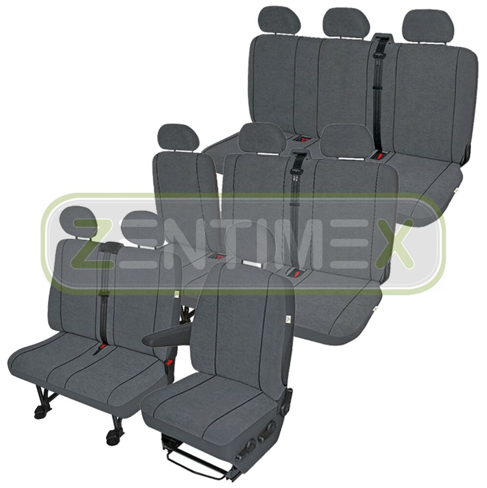 sitzbez ge schonbez ge set eu vw t4 caravelle stoff dunkel. Black Bedroom Furniture Sets. Home Design Ideas