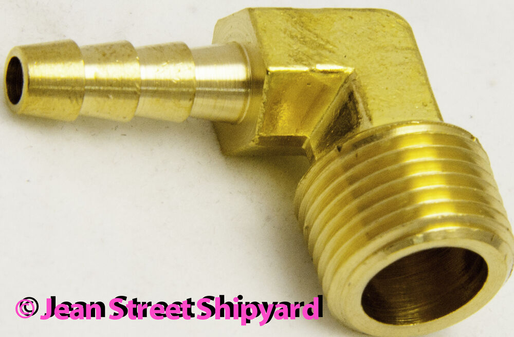 Marine brass degree fuel elbow fitting hose