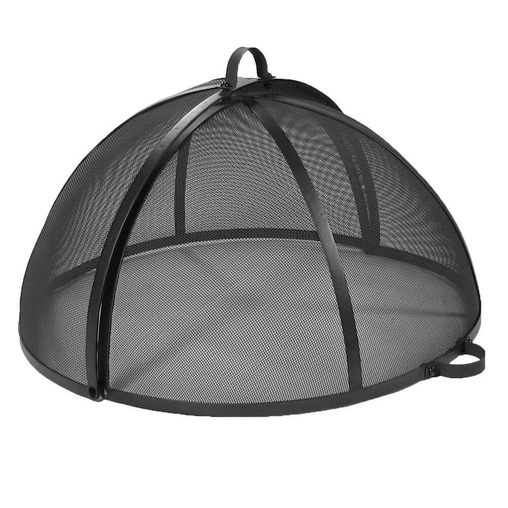 Hinged Easy Access Replacement Fire Pit Cover Spark Screen