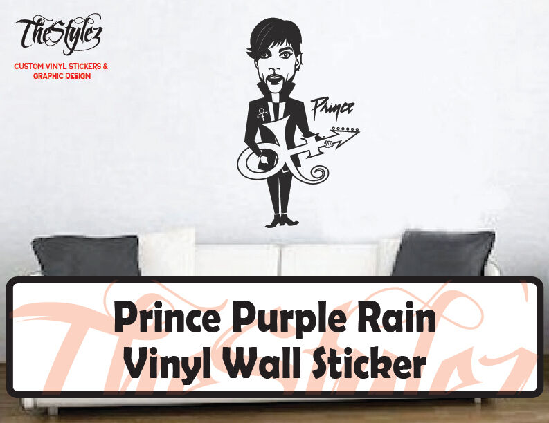 Prince Purple Rain Custom Vinyl Wall Sticker | EBay