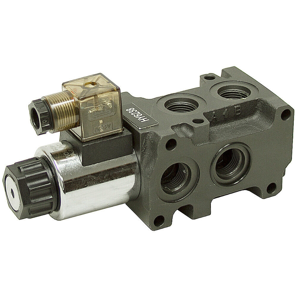 12v Hydraulic Selector Valve : Solenoid operated double selector valve volts dc