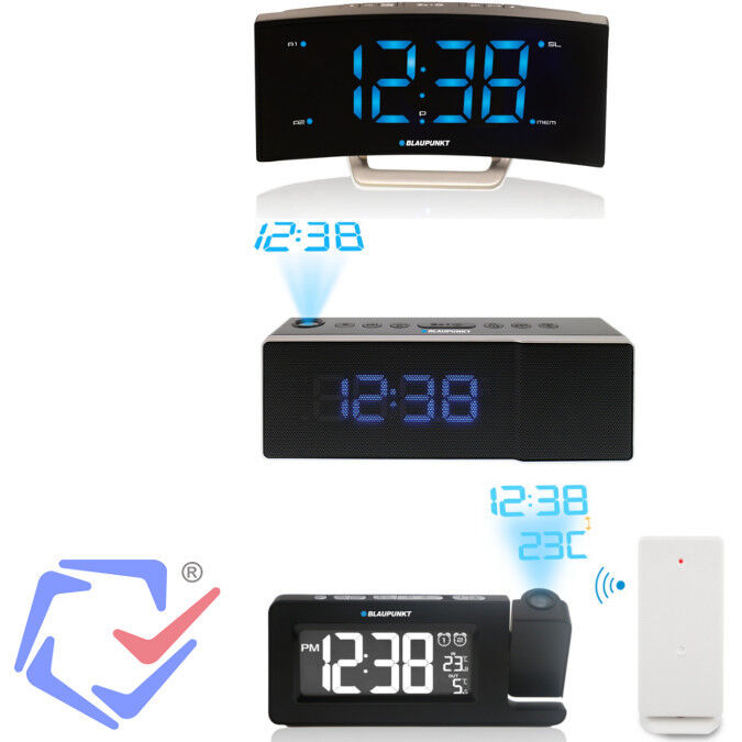 blaupunkt radio alarm clock w wall ceiling projector 3 types digital temperat. Black Bedroom Furniture Sets. Home Design Ideas