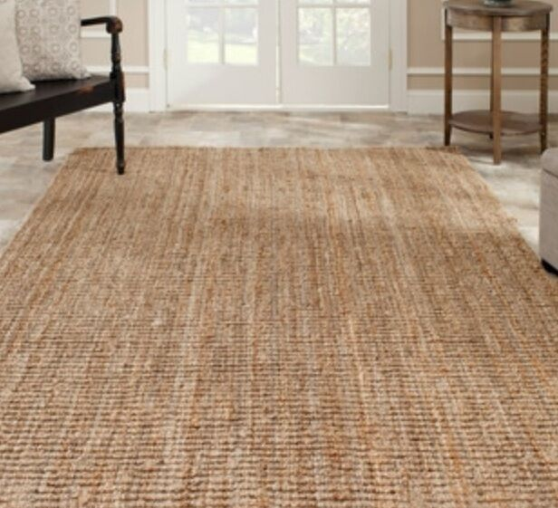 Natural Beige Sisal Fine Jute Hand Woven Area Rugs 8 X 10