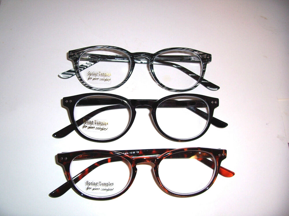 quality clear reading glasses temples aspheric lens