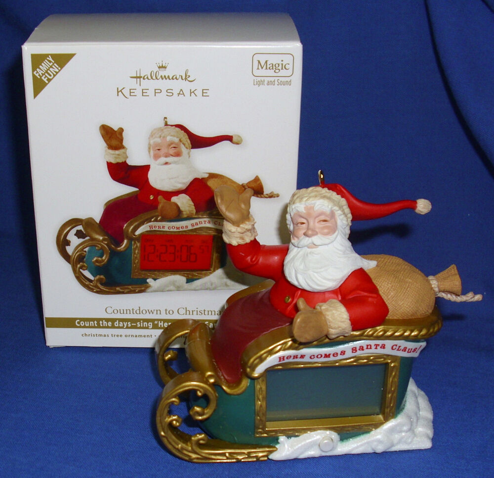 Hallmark Ornament Countdown to Christmas 2012 Santa Sleigh ...