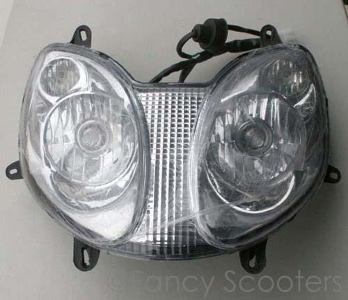 Scooter Headlight Assembly : Chinese cc gas scooter headlight assembly part m ebay