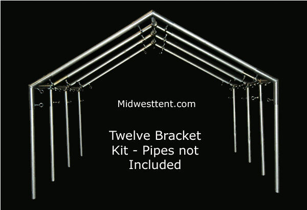 Canvas Wall Tent 12 Bracket Kit For 1in Pipe Conduit Frame