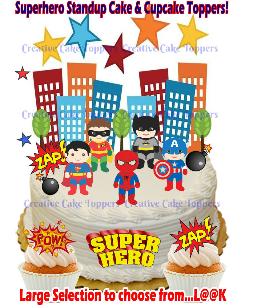 superhero cake toppers edible ironman wafer 7842