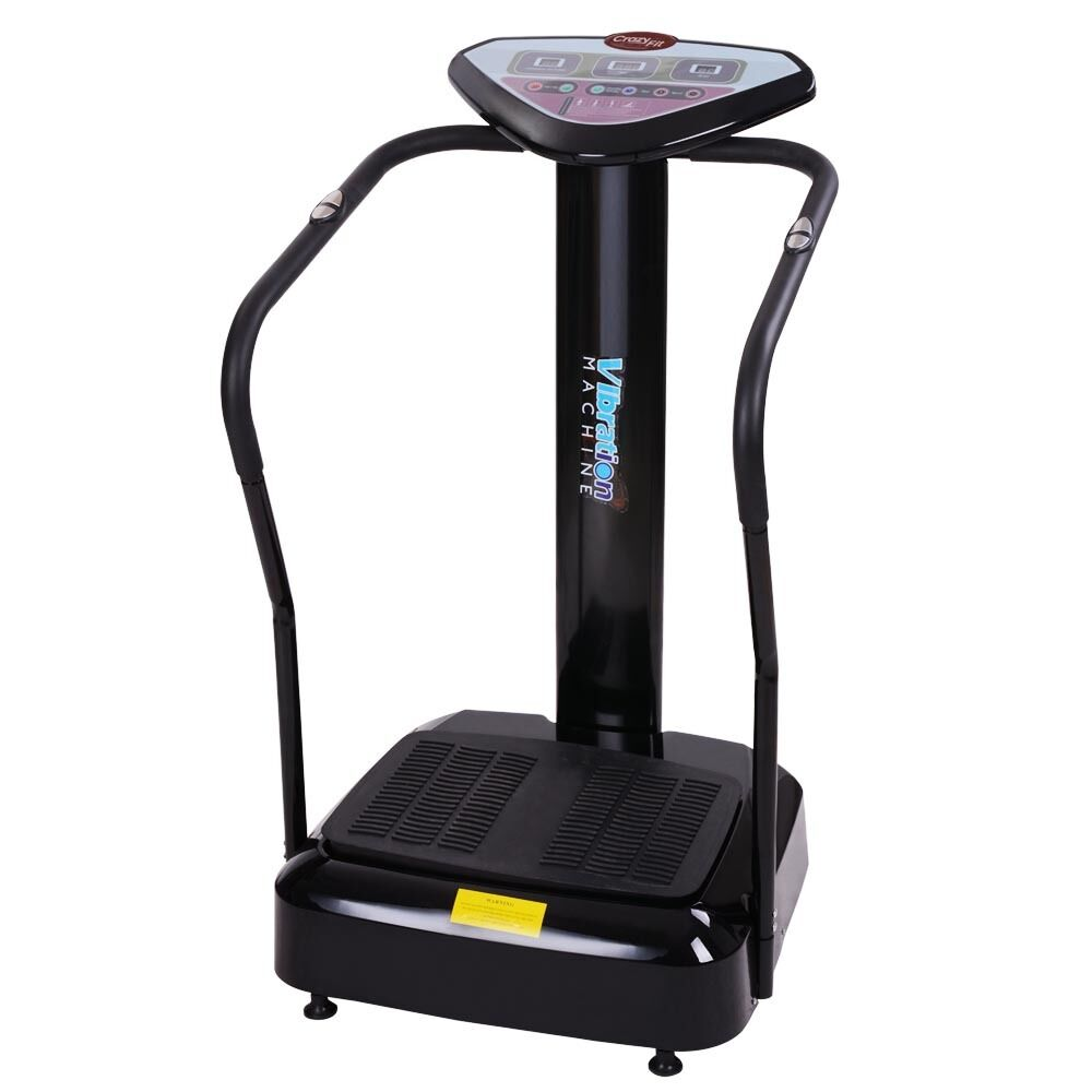 1000w crazy fitness whole body vibration plate machine massager exercise black ebay. Black Bedroom Furniture Sets. Home Design Ideas