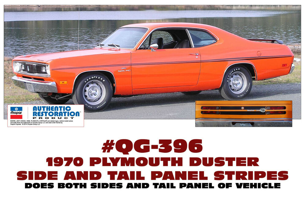 Graphic Express - 1973-74 Plymouth Duster 340 Side Stripe