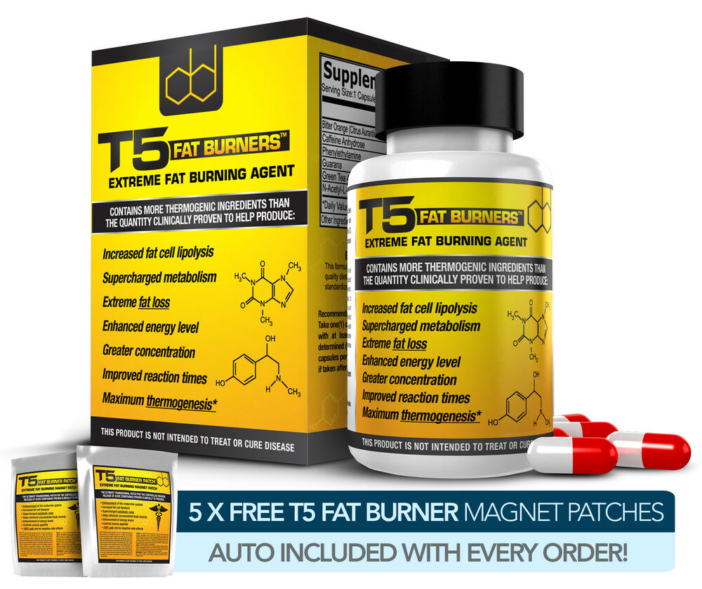 T5 FAT BURNERS CAPSULES -STRONGEST LEGAL SLIMMING / DIET ...