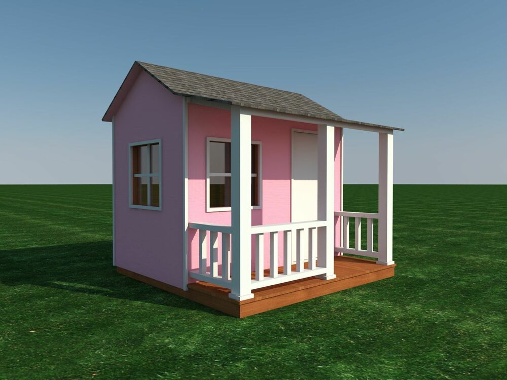 build your own shed or playhouse for the kids diy plans