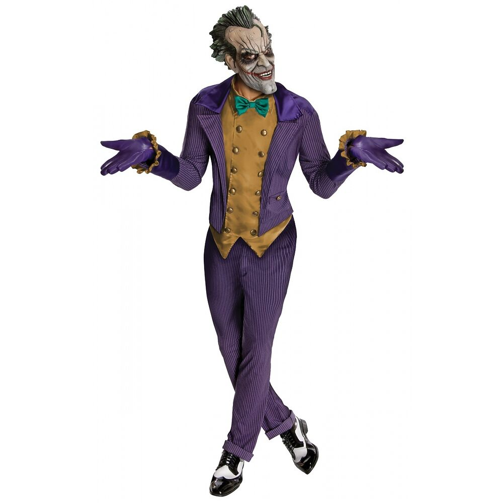 Joker Costume Adult Batman Arkham City Superhero Villain ...