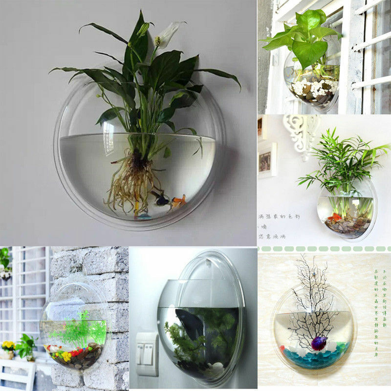 Indoor Outdoor Wall Mounted Plastic Plant Pot Rare Modern
