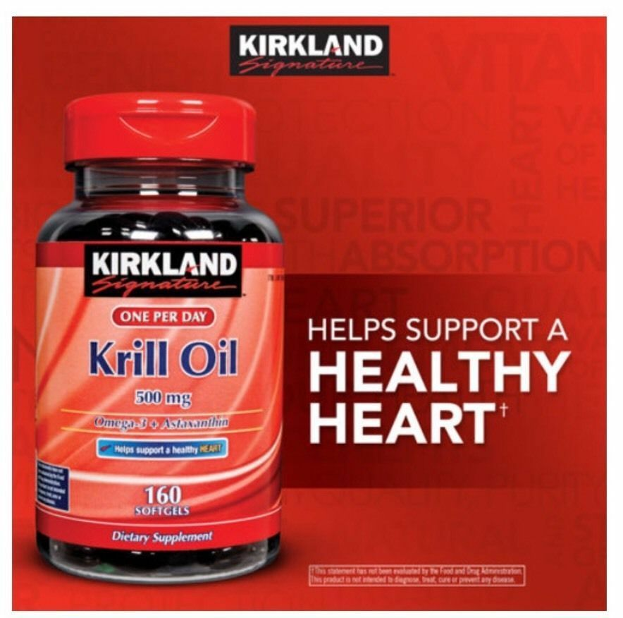 Kirkland signature krill oil 500mg omega 3 astaxanthin for Fish oil with astaxanthin